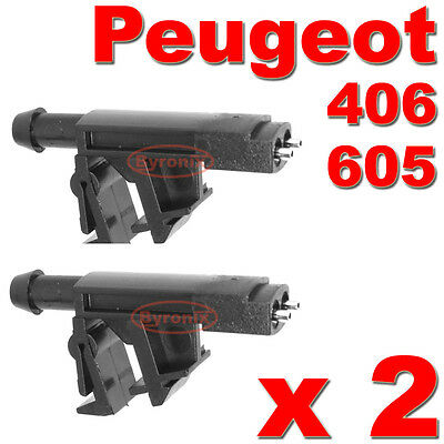 Peugeot 406 605 Front Windscreen Washer Jets Water Nozzles X2
