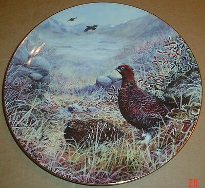Wedgwood Collectors Plate FROSTY HIGHLAND DAWN - RED GROUSE