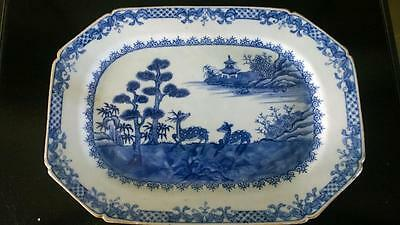 Beautiful 18th C Qianlong Chinese Export Reindeer Hand Painted Platter C 1736+