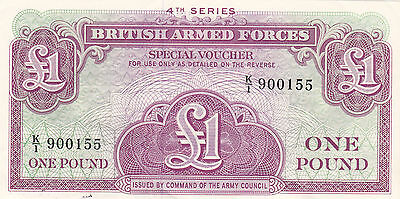 British Armed Forces £1 Banknote 4th Series