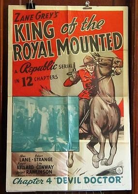 KING OF THE ROYAL MOUNTED Chapter 4 ONE-SHEET Movie Poster