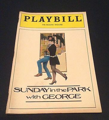 Broadway ' Sunday In The Park With George ' Playbill  1985