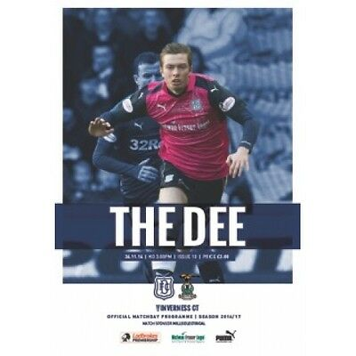 Dundee v Inverness Caledonian Thsitle 26/11/2016 Premiership match programme