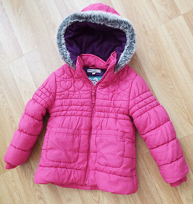 MARKS & SPENCER 'INDIGO' GIRLS  PINK WINTER COAT AGE 3 to 4 YEARS