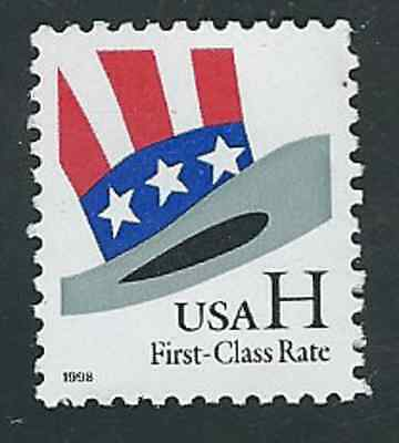 "Scott #3260...(33) Cent...(""H"" Stamp)...Uncle Sam's Hat... 3 Stamps"