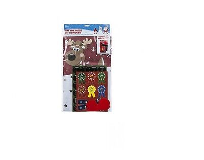 Pin The Nose On The Reindeer Christmas Party Game Novelty Fun Stick Rudolph Kids