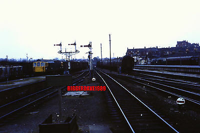 Railway Locomotive 35Mm Slide Class 33 Arriving At Weymouth Yard 1960's