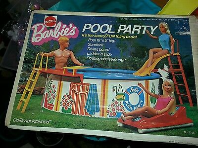 Vintage mattels barbie's pool party boxed