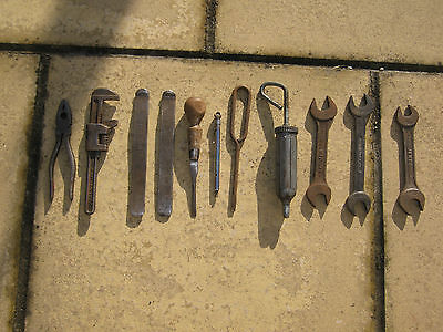 Eleven Items From A Land Rover Series 1 Or Series 2 Tool Kit