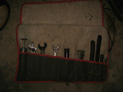 Ten (10) Items From Your Classic Austin Tool Kit In A Tool Roll