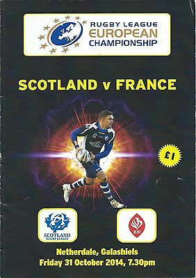 31 OCT 2014 SCOTLAND v FRANCE, EUROPEAN CHAMPIONSHIP AT GALASHIELS