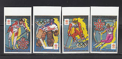 Central Africa 1988 Winter Olympics IMPERF Sc 899-902 cplte mint never hinged