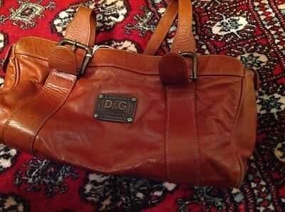 Italian Leather Handbag Vgc