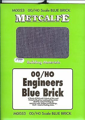 Metcalfe 4 thick+4 thin card kit in ho/oo  grimy weathered engineers blue brick