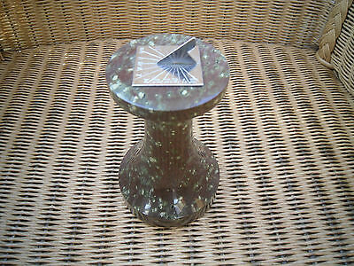 Cornish Serpentine paperweight in the form of a miniature sundial