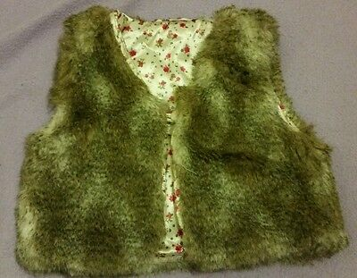 H & M girls fur gillet for age 6/7 years