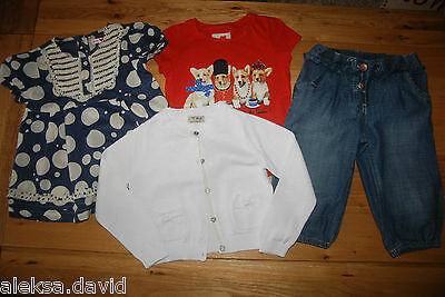 VGC NEXT etc girls 3-4 years SUMMER SET/BUNDLE*2 TOPS*CARDIGAN*CROPPED TROUSERS