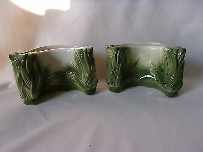 2 Royal Copley Mid Century Modern Leaves Planters