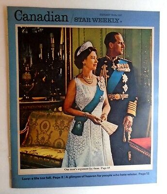 1967 Canadian Magazine Star Weekly Queen Elizabeth Prince Philip Lucille Ball