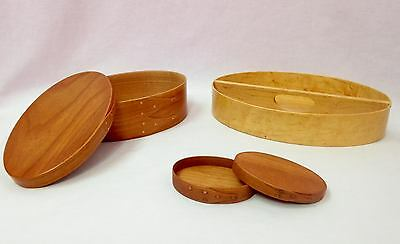 Brent Rourke Shaker Wooden Oval Boxes and Tray