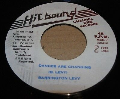 """Barrington Levy Dances Are Changing Ja 7"""" Channel One Records Roots Dancehall"""