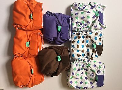 Brand New Bargain Bundle Of  8 Totsbots Reusable Cloth Nappies