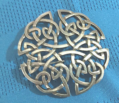 RUSSELL DOUGLAS CALDWELL Glasgow CELTIC KNOT Sterling Silver 925 Pin Brooch