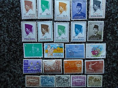 Collection/mixture Of Indonesia Definitive Stamps