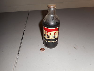 Unusual Vintage 10 Ounce Diet Pepsi Bottle Sealed / Full Free Shipping