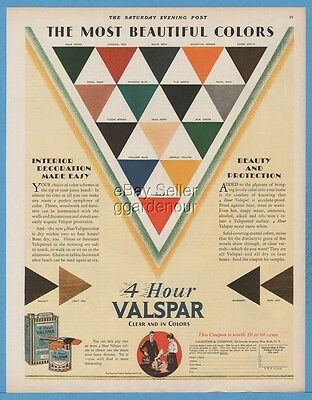 1928 Valentine Valspar Varnish Paint Most Beautiful Colors Vintage 1920's Ad