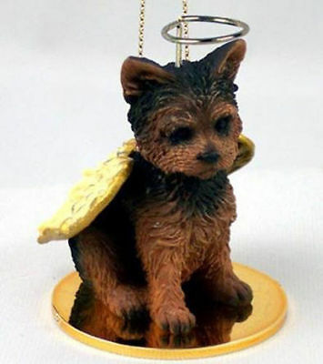 YORKIE Puppy Cut Yorkshire Terrier Dog ANGEL Tiny One Ornament Figurine Statue