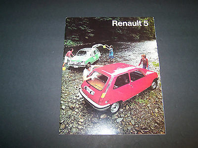 Renault 5 Original Sales Brochure