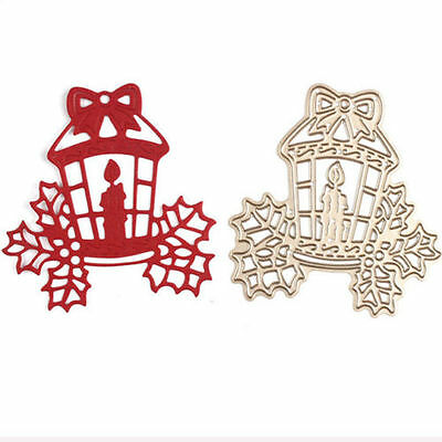 Christmas Candle Design Metal Cutting Dies For DIY Scrapbooking Album Diary Card