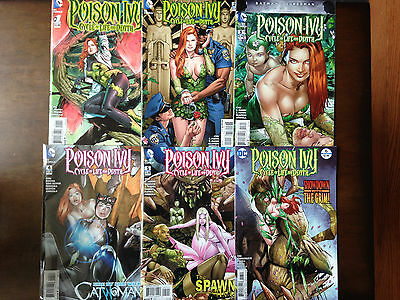 Poison Ivy Cycle Of Life And Death Comic Set # 1-6 Harley Quinn Catwoman Cameo