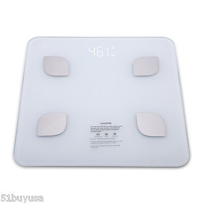 Bluetooth BIA Scale Digital Body Fat Weight Scale Wireless 8 Parameters 400lbs