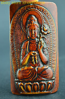 China Collectible Decorate Handwork Old Lucky Relievo Buddha Pendant Noble