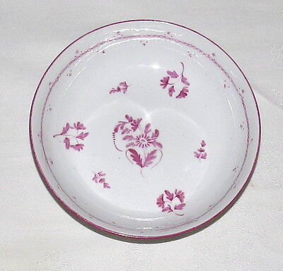 """Staffordshire circa 1805 Pink Floral pattern 5.1/2"""" Bowl Excellent"""