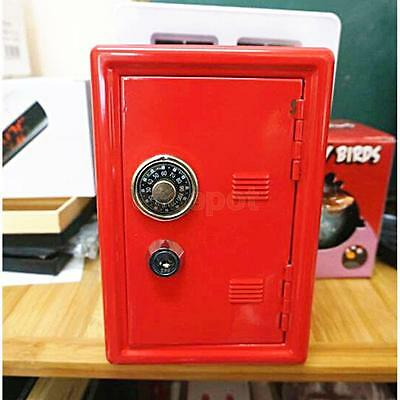 Lock Piggy Bank Money Box Code Safe Coins Cash Saving for Kids Gift Red