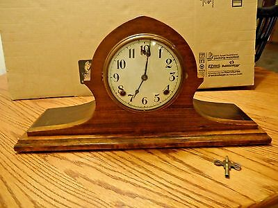 Antique circa 1915-1920s William L. Gilbert Mantel Clock w/ Porcelain Dial