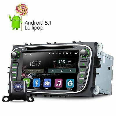 """CAM+ 7"""" Android 5.1 Car Stereo DVD GPS NAV Radio DAB+ CD for Ford Focus Mondeo 8"""