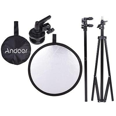 "Andoer 24""/60cm 5 in 1 Collapsible Disc Reflector+Photography Light Stand T7C3"