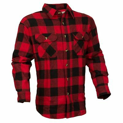 Guides Choice Pro Elite Men's Heavy Duty Flannel Shirt Buffalo Red