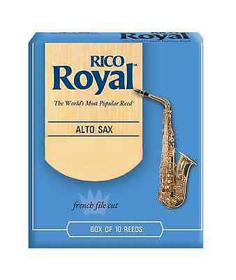NEW RICO ROYAL ALTO SAXOPHONE 1.5 REEDS BOX OF 10 TO CLEAR SAX REED SALE Eb