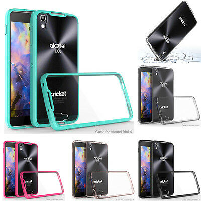 Hybrid Slim Hard Armor Clear Case Transparent Shockproof Rubber Bumper Cover