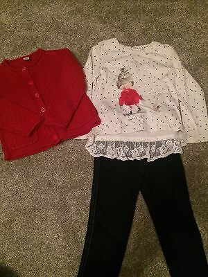 Girls Winter Outfit Set Next/TU Age 2-3 Years Christmas