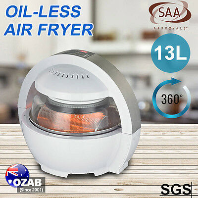 New Oil Free 13L Air Fryer Oven Cooker Multifunctional LCD 1300W Low Fat Healthy