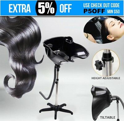Portable Adjustable Salon Hairdressing Mobile Shampoo Sink Backwash Hair Basin