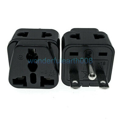 ( Pack 5) 2 IN 1 - US Nema 6-15P Plug Adapter for 208/220/230/240V 10A Max BK