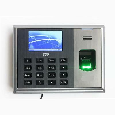 ZK S30 3 inch TFT LCD Screen Fingerprint Time Attendance Time Machine
