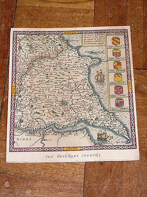 Vintage print East Riding Yorkshire Beverley Country